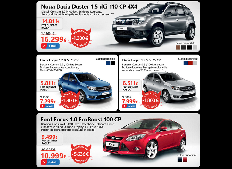 black friday 2013 emag dacia iriac auto i ford intr n hora reducerilor oferind. Black Bedroom Furniture Sets. Home Design Ideas