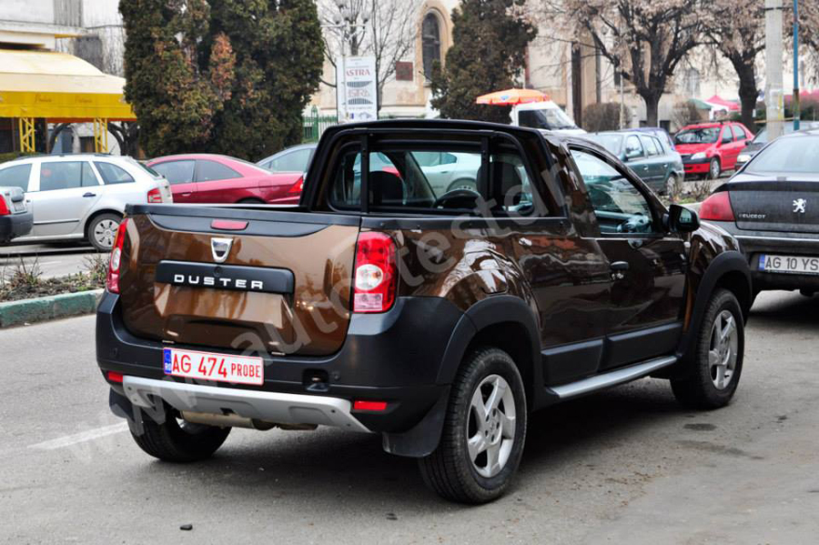 dacia duster pick up a dep it stadiul de proiect noi imagini spion auto industry news. Black Bedroom Furniture Sets. Home Design Ideas
